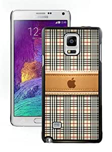 Galaxy Note 4 Case,Burberry 35 Black Samsung Galaxy Note 4 Screen Phone Case Fashion and Newest Design