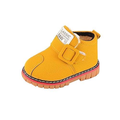 OHQ Botines Martin Invierno CáLido NiñAs NiñOs Letra Cuero Nieve Martin Botas Cortas Zapatos Zapatillas Unisex NiñOs Gimnasia: Amazon.es: Zapatos y ...