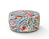 PacifiCasual Round Ummi Inflatable Ottoman for Indoor/Outdoor Patio Use Portable Travel Chair...