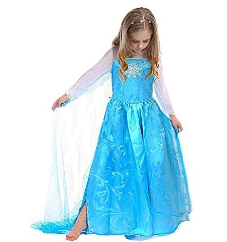 CoolChange disfraz de Elsa de Frozen, talla: hasta la 150: Amazon.es: Juguetes y juegos