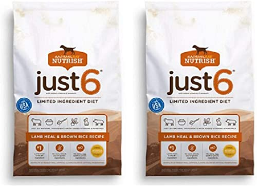 Rachael Ray Nutrish Just 6 Limited Ingredient Natural Dry Dog Food 2 Pack