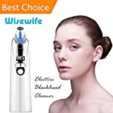 Blackhead Remover Vacuum Suction – Electric Facial Skin Pore Cleaner Acne Comedone Suction with 4 Microcrystalline Head USB Rechargeable Extractor Tool Eliminator Microdermabrasion Exfoliating Comedo Review