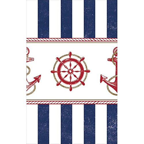 gh Nautical Party Rectangular Table Cover Tableware, Multicolor, 54