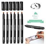 NoteShield Counterfeit Bill Detector Markers + Bonus UV Light + Bonus Magnifier - Small Business Security Dollar Tester Markers (6 Pens)