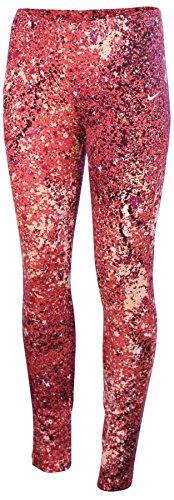 Nike Big Girls' (8-20) Leg A See Splatter Sport Casual Tights-Light Crimson-Medium