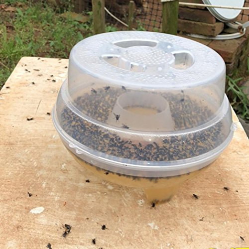 Inverlee New Automatic Flycatcher Fly Trap Pest Reject Control Catcher Trap Housefly (A) (Ideal Tape Goldfish)