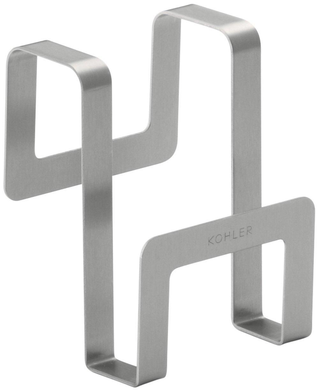 KOHLER 6139-ST Octave Sponge Caddy for Octave K-3842, K-3843, K-3844 and K-3845 Kitchen Sinks, Stainless Steel