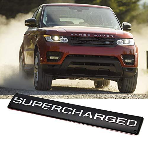 for Range Rover Land Rover Sport Supercharged Trunk Badge Emblem Black Alloy ()