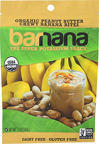 Barnana Organic Chewy Banana Bites - Peanut Butter - 3.5 Ounce - Delicious Barnana Potassium Rich Banana Snacks - Lunch Dinner Sports Hiking Natural Snack - Whole 30, Paleo, Vegatarian