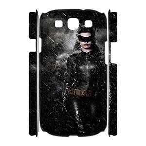 Batman ROCK0083444 3D Art Print Design Phone Back Case Customized Hard Shell Protection Samsung Galaxy S3 I9300