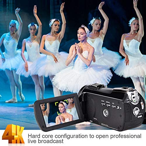 Video Camera 4K Camcorder ZOHULU Vlog Camera for YouTube, HD Digital Camera with 30X Digital Zoom and Night Vision, Video Recorder with Microphone, Wide Lens (32GB SD Card, 2 Batteries Included) 51iJYleSdaL