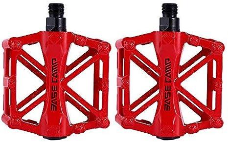 zjchao Pedales para Bici BMX Bicicleta de montaña MTB Ciclismo de Carreras Ultraligero Pedal de aleación (Rojo): Amazon.es: Deportes y aire libre