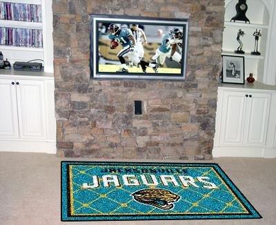 Fanmats Jacksonville Jaguars Football (NFL - Jacksonville Jaguars 5 x 8 Rug)