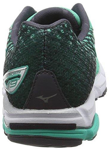 Mizuno Wave Rider 19 - Zapatillas de running Mujer Electric Green / Silver / Periscope