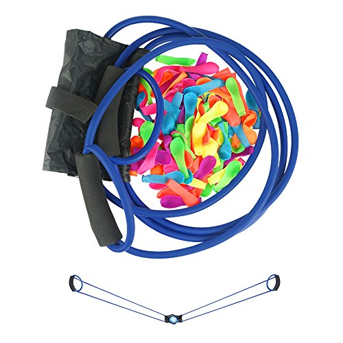 Water Balloon Launcher 300 Yards, Heavy Duty Water Balloon Cannon / Slingshot Fun Water Balloon Fight Pool Party Toy,3 Person Giant Angry Animals Summer Beach Games,100 Balloons & Carry Case -