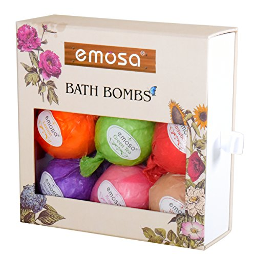 Bath-Bombs-Gift-Set-Spa-Fizzies-Soothe-Dry-Skin-and-Relieve-Fatigue-Best-Surprise-Gift-Ideas-for-Women-Mom-Girls-Teens-Birthdays-7-Bombs-1-Pack-Rose-Petal-Organic-Natural-Ingredients
