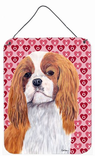 16 x 12 Multicolor Carolines Treasures SC9245DS1216 Cavalier Spaniel Hearts Love and Valentines Day Wall or Door Hanging Prints