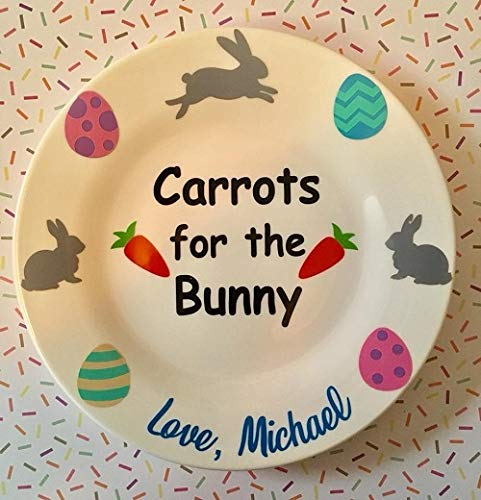 Personalized carrots for the bunny plate, Personalized Easter gift for kids