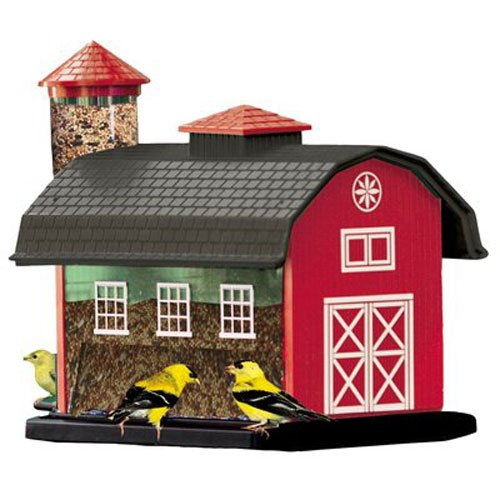 (Audubon Red Barn Combo Seed Bird Feeder Model 6290)