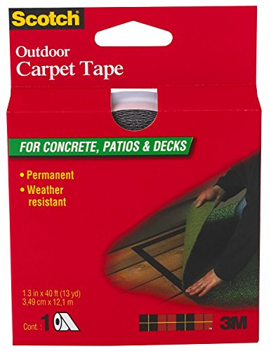 - Scotch Outdoor Carpet Tape CT3010, 1.375 in x 13.3 yd