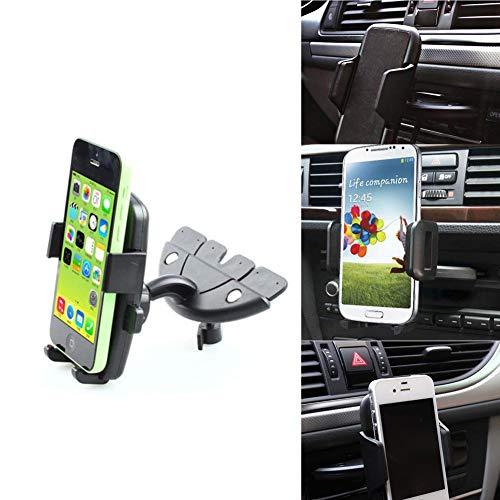 FANMURAN Soporte de Montaje en Ranura para CD con Soporte para Coche de 60 ° para teléfonos móviles Samsung iPhone Samsung...