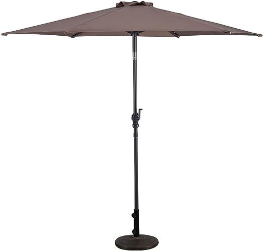 COSTWAY 2, 7m Sombrilla de Playa Plegable Parasol para Terraza ...
