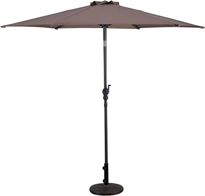 COSTWAY 2, 7m Sombrilla de Playa Plegable Parasol para Terraza ...