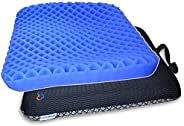HANCHUAN Gel Seat Cushion Extra Firm & Thick Sitter Cushion with Honeycomb Egg Crate Breathable Design for