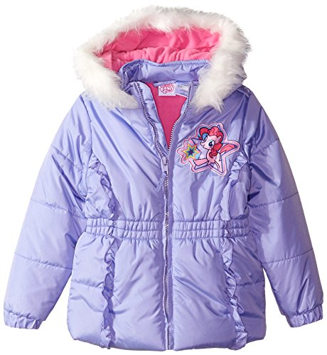 My Little Pony Disney (Disney Little Girls' My Little Pony Puffer Coat, Multi, 6X)