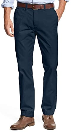 57e7b25d Tommy Hilfiger Mens Tailored Fit Chino Pants (Masters Navy, 32x30)