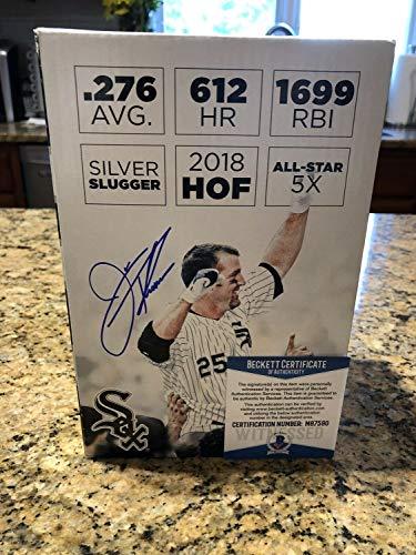 (Jim Thome Autographed Signed White Sox HOF Bobblehead Box Beckett Coa - Authentic Memorabilia)