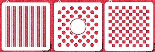 Stripes, Squares & Polkadot Cookie Stencil Bundle of 3
