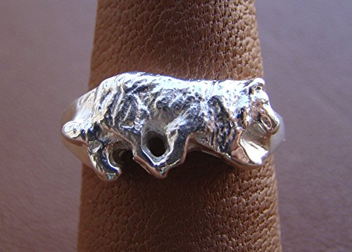 Sterling Silver Border Collie Herding Study -
