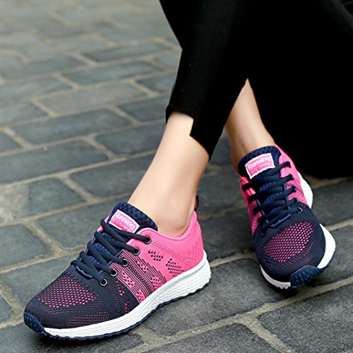 Shoes Running Sports Women Hot Fashion Casual pink Yoga Gym Shoes Sneakers up Lace Sneakers Diadia Lightweight Sneakers x6Iq56Uw
