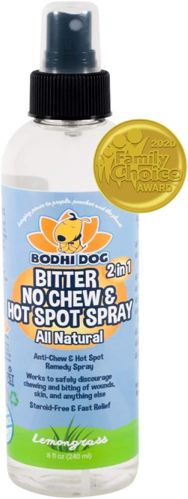 Bodhi Dog New Bitter 2 in 1 No Chew & Hot Spot Spray | All Natural Anti-Chew Remedy | Safe for Skin, Wounds, Anything Else | Made in USA