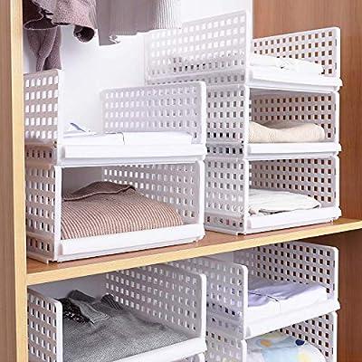 Caja de almacenaje., plástico, Blanco-2, 40*30*18cm: Amazon.es: Hogar