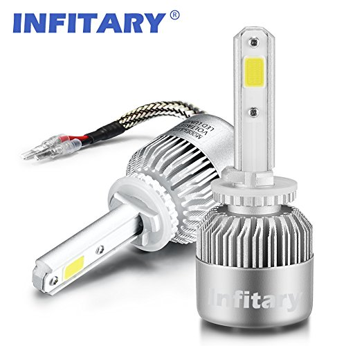 Infitary LED Headlight Bulbs H27/880/881 Conversion Kits Car LED Headlights 72W/Pair 6500K 10000LM Extremely Super Bright COB Chips- 1 Pair-3 Year Warrenty