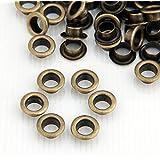 Skyllc® 200X Oeillet En Métal Couleur Bronzé 8mm Pour Sac Ceinture