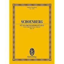 5 Orchestral Pieces, Op.16: (Original 1922 Version)