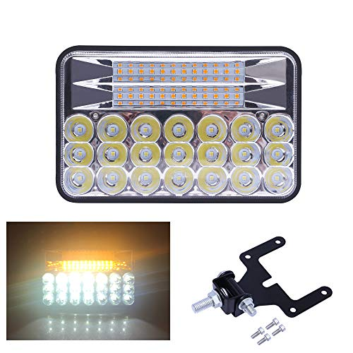 5 inch 135W Dual Color LED Pods Off Road Driving Fog Light Waterproof 3000K Yellow 5000K White LED Cubes Spotlight Spot Flood Combo Beam Work Lights for Truck Jeep ATV UTV Pickup Boat Garden Lighting