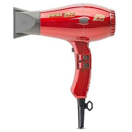 Parlux 3500 Supercompact - Secador profesional con tecnología cerámica iónica, color rojo: Amazon.es: Salud y cuidado personal