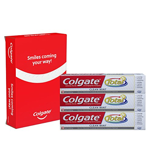 Colgate Total Clean Mint Toothpaste - 7.8 ounce (Pack Of 3) by Colgate