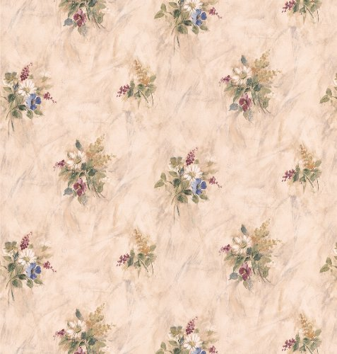 Brewster 261-IB4014 Parkview Designs For Your Bath Wildflowers Bouquet Wallpaper, 20.5-Inch by (Wildflower Wallpaper)