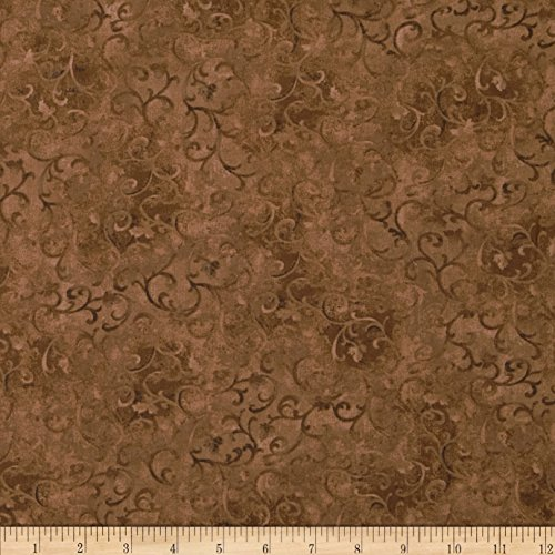 Wilmington Prints Essentials Scroll Medium Brown Fabric by The Yard,