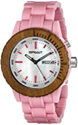 Sprout Women's ST/6503MPPK Luminous Light Pink Corn Resin Bracelet Watch