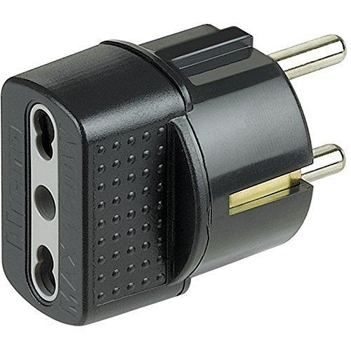 bticino S3625GE Adaptador de Enchufe elé ctrico Antracita - Adaptador para Enchufe (16 A, Antracita, De plá stico, Macho/Hembra) De plástico