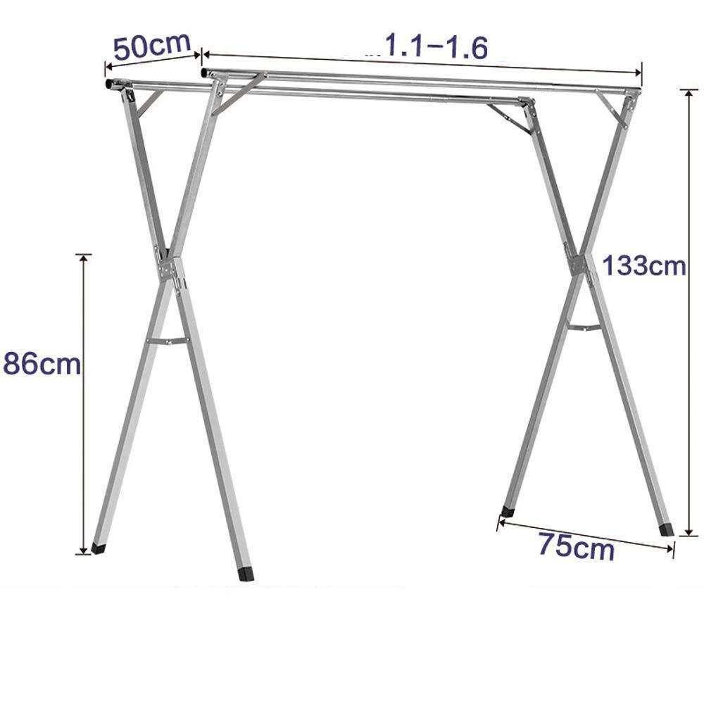 QJKai interni ed esterni stendino da pavimento balcone doppio polo Cool stendino appendiabiti semplice Quilt rack A