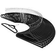 CRESNEL 50pcs Premium Velvet Clothes Hangers - Slim Space Saving Design for Men and Women Dress Suit - Black