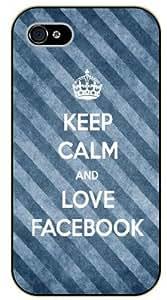 iPhone 5C Keep calm and love Facebook - black plastic case / Keep calm