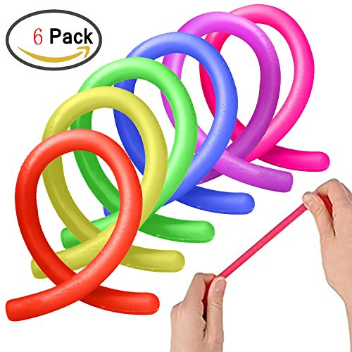 ADHD Fidget Toys, Autism Anxiety Stress Relief Sensory Fiddle Toys Hand Finger Small Stretchy String Eholder Set of 6 for Relaxing Calming Boys or Girls Kids,Adult Men or Women with Focusing,OCD,ADD